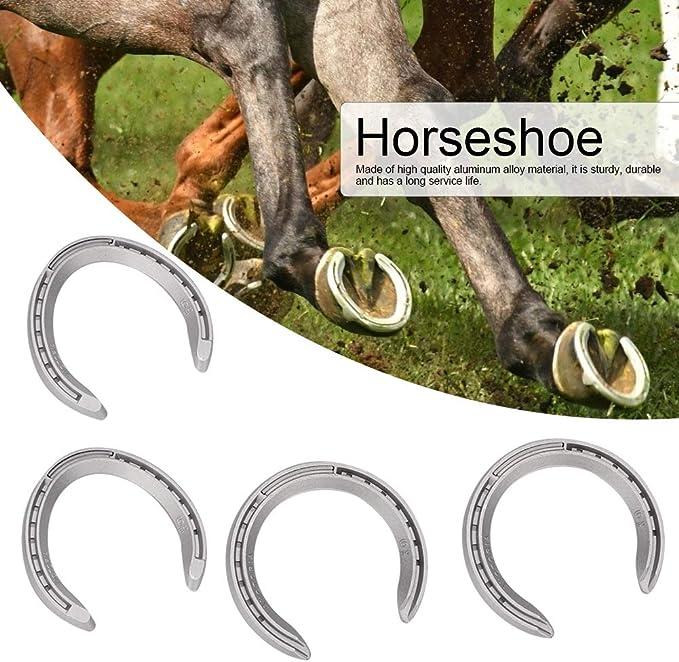 Type 4Pcs Aluminium Alloy Horseshoe Kit Horse Riding Tool Equipment Accessories