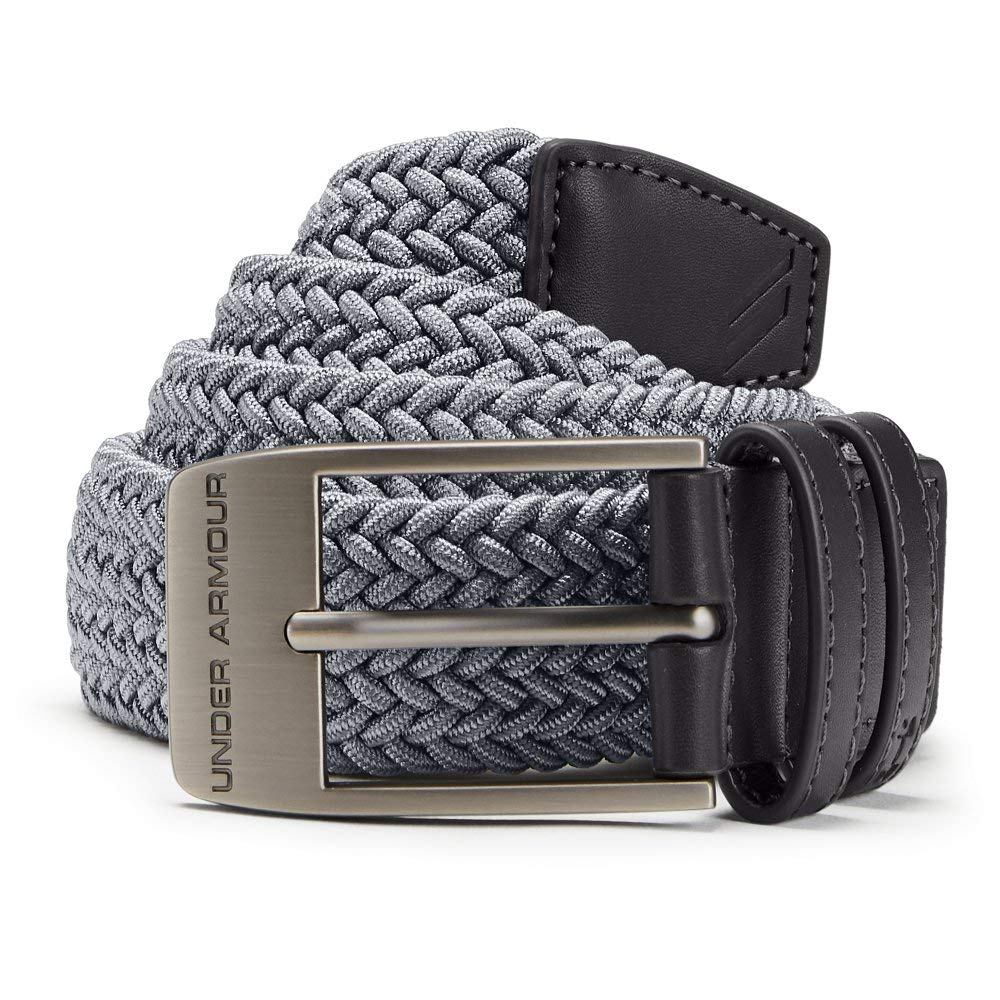 Under Armour Men's Braided 2.0 Belt, Zinc Gray, 38 by Under Armour