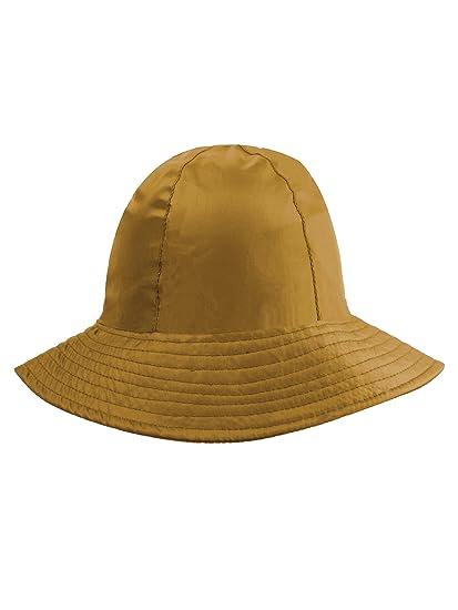 c001ce511f6f5 Beige Reversible Rain Or Sun Style Bucket Hat at Amazon Women s ...