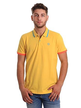 Gaudi jeans 811BU64078 Polo Hombre Amarillo XXL: Amazon.es: Ropa y ...