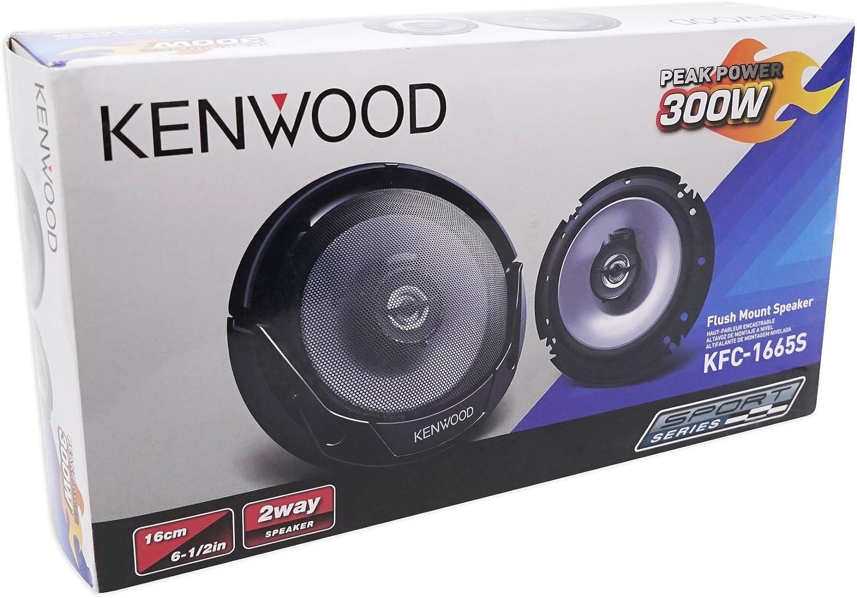 Kenwood KFC-1365S 2-Way 5-1//4 Flush Mount Car Stereo Speakers