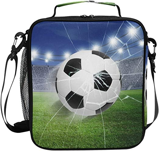 Soccer Lunchbox Cooler Bags Insulated Bag Lunchboxes BEST TOTES