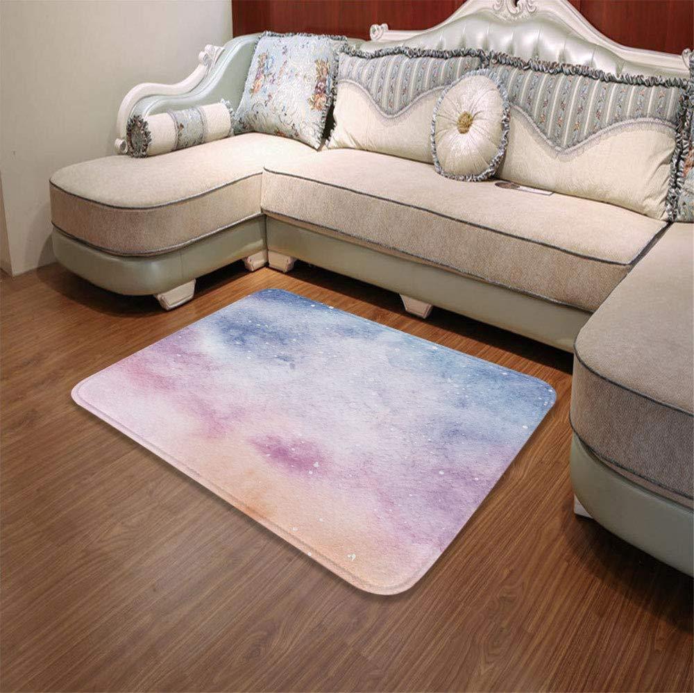 YOLIYANA Modern Carpet,Navy and Blush,for Living Room Bathroom,55.12'' x78.74'',Abstract Watercolors Artistic Fantasy Soft Nebula