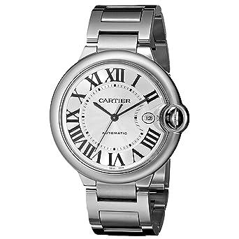 Cartier Hombre 42 mm Acero Pulsera y Caso S. Sapphire Reloj automático w69012z4: Cartier: Amazon.es: Relojes