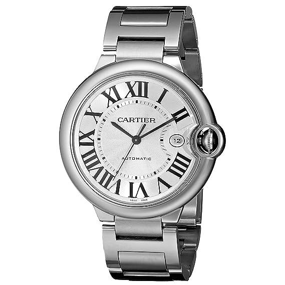 Cartier hombre 42 mm acero pulsera y caso S. Sapphire reloj automático w69012z4