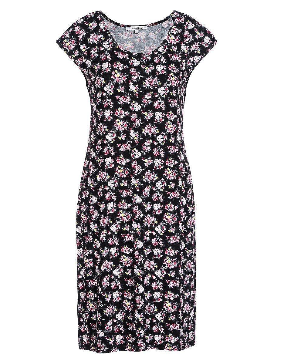 STEILMANN by Adler Mode Damen Jerseykleid mit Blumendruck - Sommerkleid, Coktailkleid, Businesskleid, Stoffkleid