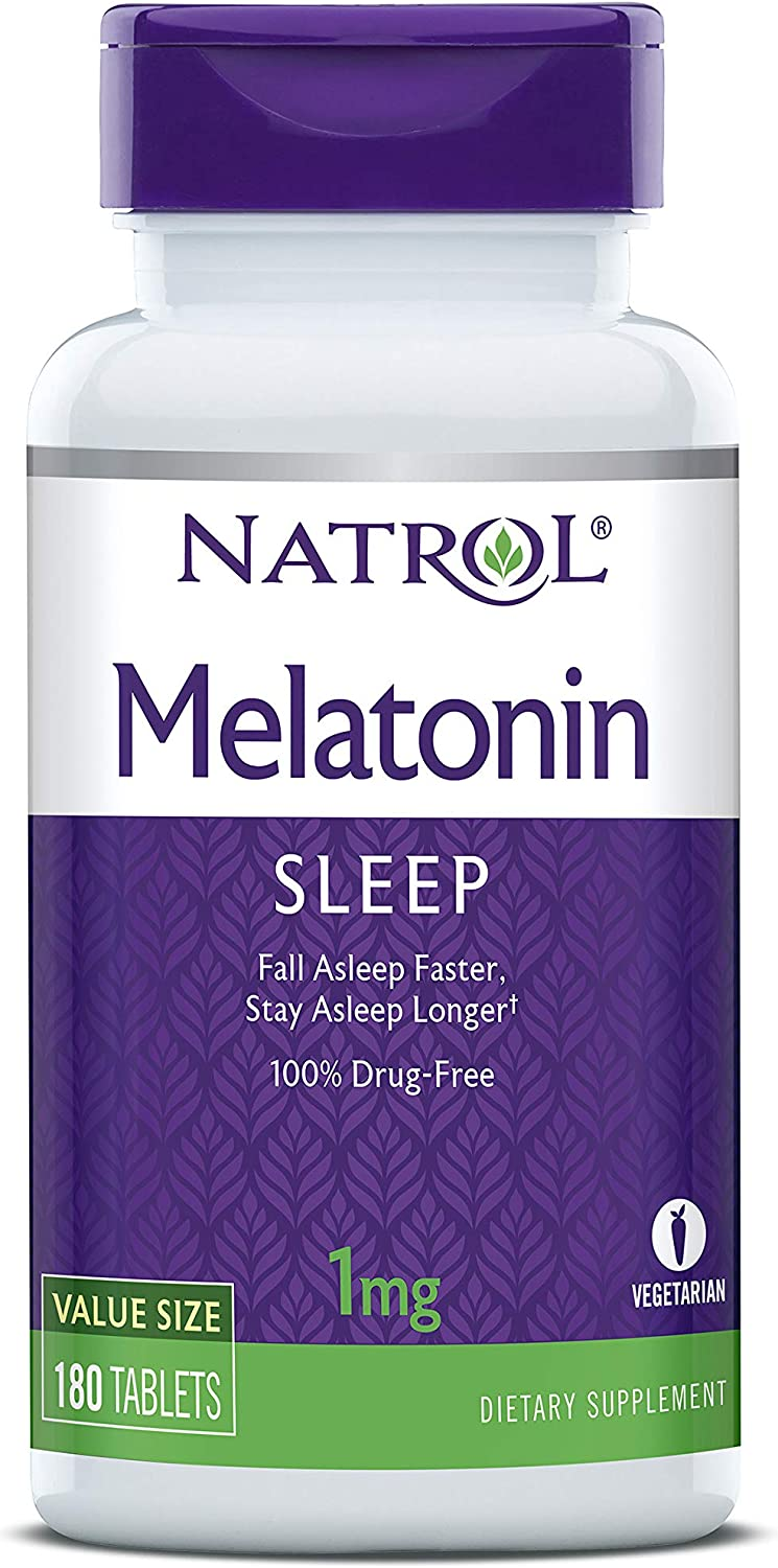 Natrol Melatonin Tablets, 1mg, 180 Count