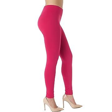 4be7b990b48 Premium Women s Fleece Lined Leggings - High Waist - Regular and Plus Size  - 20+ Colors