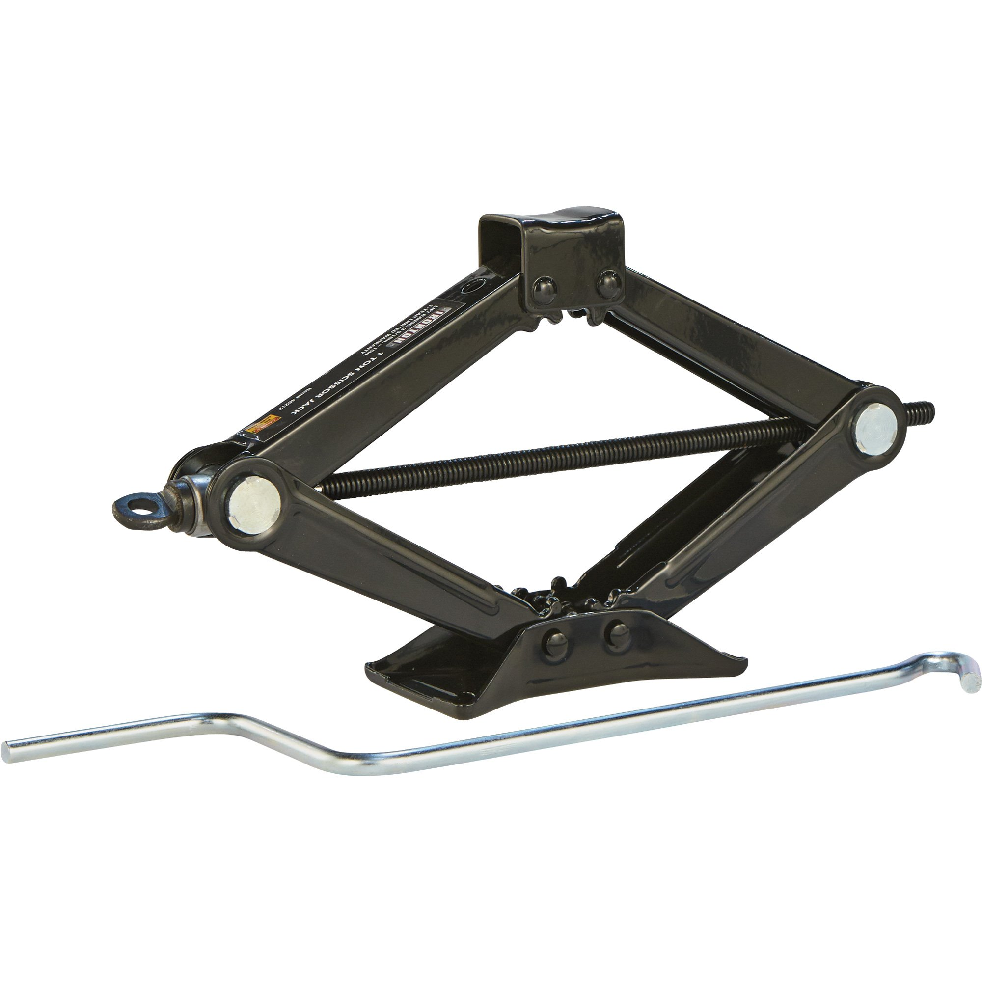 Ironton Steel Scissor Jack - 1-Ton Capacity, 3 5/16in.-15in. Lift Range