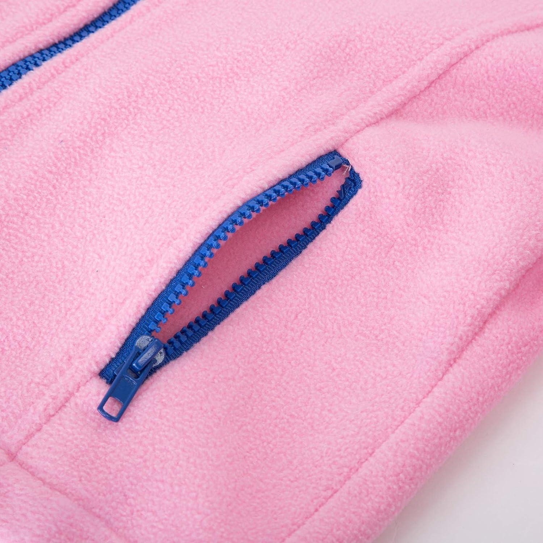 Danna Belle Kids Unisex Long Sleeve Stand Collar Zip-Up Polar Fleece Coat