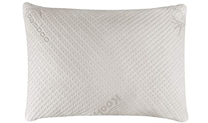 pretty nice 3dcda 7c705 Snuggle-Pedic Ultra-Luxury Bamboo Shredded Memory Foam Pillow Combination  With Adjustable Fit and Zipper Removable Kool-Flow Breathable Cooling ...