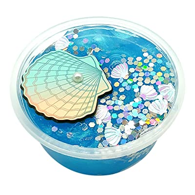 UOFOCO Beautiful Mermaid Mud Mixing Cloud Slime Putty Scented Stress Kids Clay Toy: Toys & Games