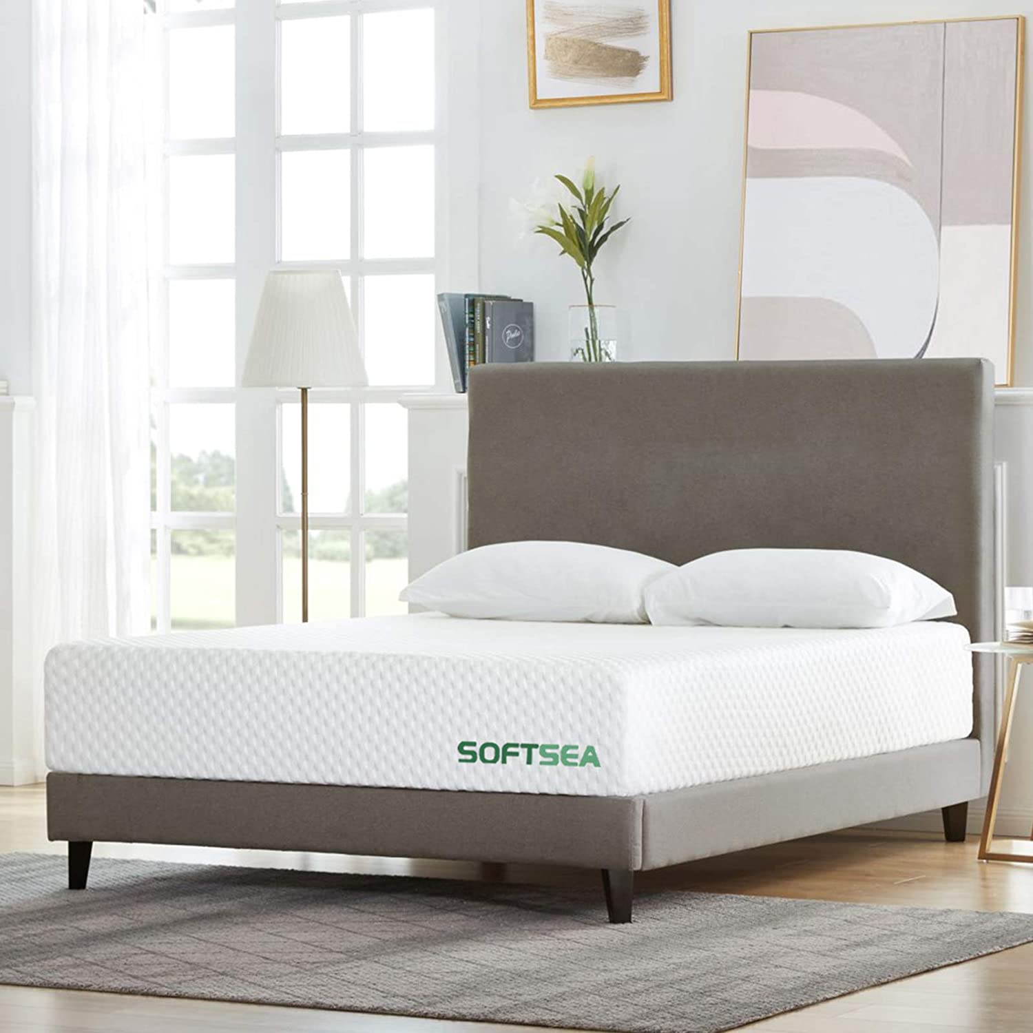 Full Size Mattress, SOFTSEA 12 inch Cooling-Gel Memory Foam Mattress in a Box for a Medium Comfort, Breathable Bed Mattress with CertiPUR-US Certified Foam, No Set-up, Easy Assembly, 10 Year Warranty
