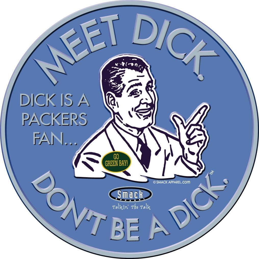 Detroit Football Fans Sm-5X Anti-Packers or Sticker Grey T-Shirt Dont Be A D!ck