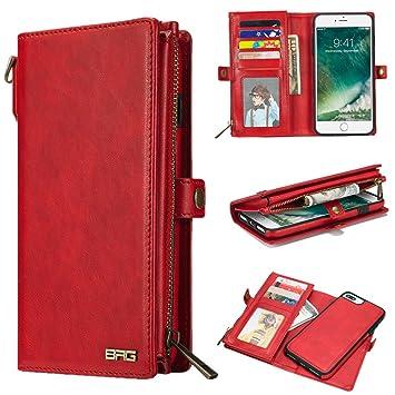 2f591171ed Amazon | Zoeking iphone7 plus ケース iphone8 plus ケース 手帳型 分離 ...