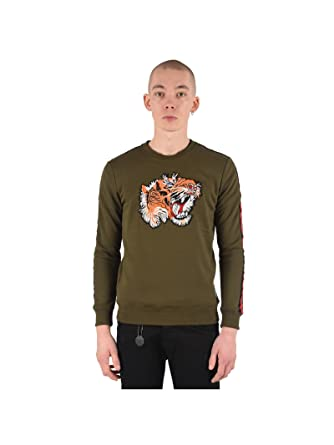 e157c0553f4d5c Project X Paris Sweatshirt with Tiger Patch  Amazon.co.uk  Clothing