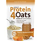 PEScience Select Protein 4 Oats, Peanut Butter and Honey, 12 Serving, Premium Whey Casein Blend