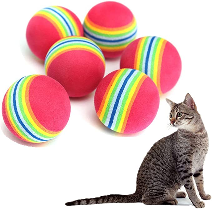 doitsa bola de juguete para gato y perro pelota multicolor ...