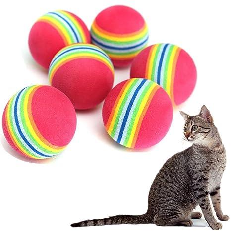 TREESTAR Pelota de juguete para gato, gato, pelota de tenis, juguete de espuma suave para gatos, ...