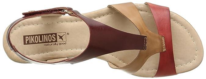 41 Handbags Coral Amazon 0752 EU Sandals Shoes 816 amp; ca Pikolinos Womens Alcudia Leather xC0OqO