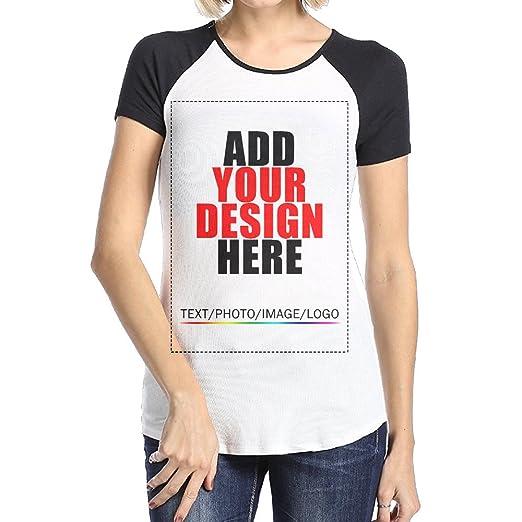 Amazon Com Worldmall Custom Women Raglan T Shirt Tee Design Your