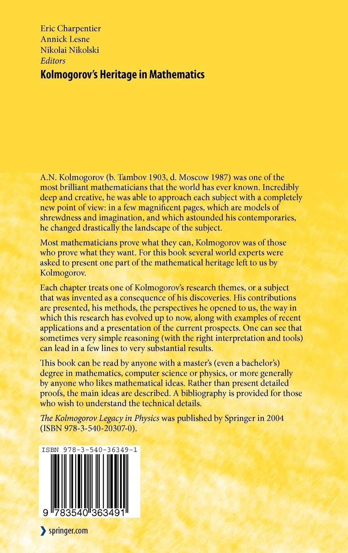 Download Kolmogorovs Heritage In Mathematics