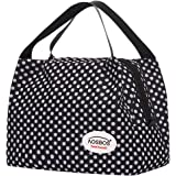 Aosbos Lunch Bags for Women Insulated Lunchbox Tote Bag Food Cooler Box Adult Men Kids (Polka Dots)