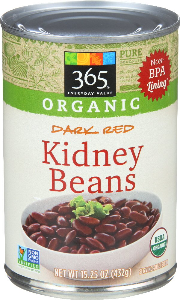 365 Everyday Value, Organic Dark Red Kidney Beans, 15.25 Ounce