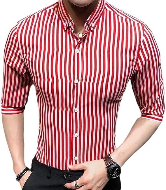 dahuo - Camisa de Vestir para Hombre, Manga Corta, diseño de ...