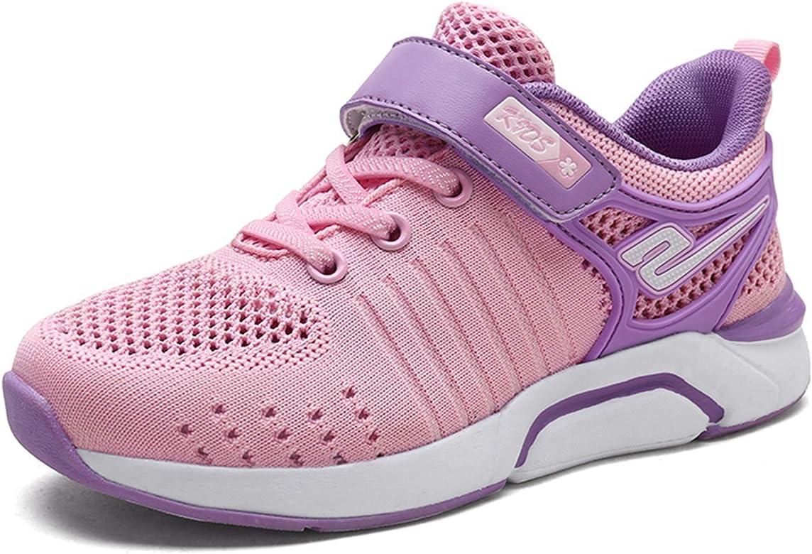 Zapatillas Deportivas Ligeras Transpirables de Malla para niños Zapatillas de Deporte con Fondo Suave en Color Rosa Suave para niñas con Zapatillas de Deporte de Correr con Velcro: Amazon.es: Zapatos y complementos