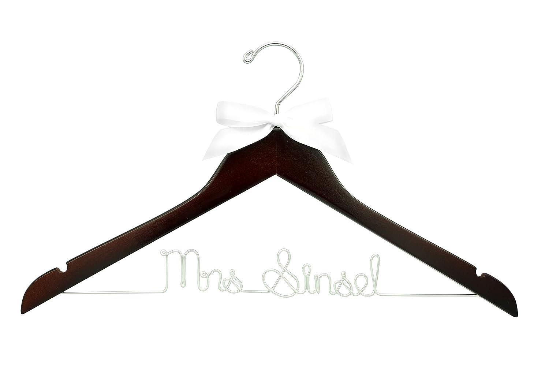 Wedding Hanger Personalised Bridal Hanger Wedding Dress Hanger Wire Hanger