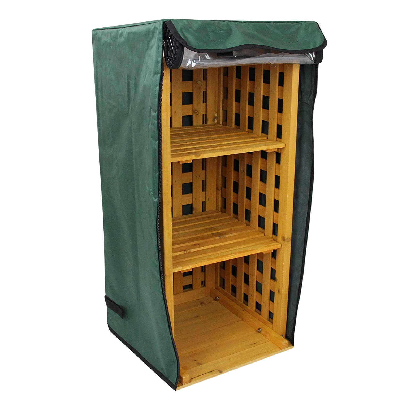 Abri Bûches en Bois / Meuble de Rangement d'extérieur pour Bois de chauffage et bottes de pluie MonsterShop
