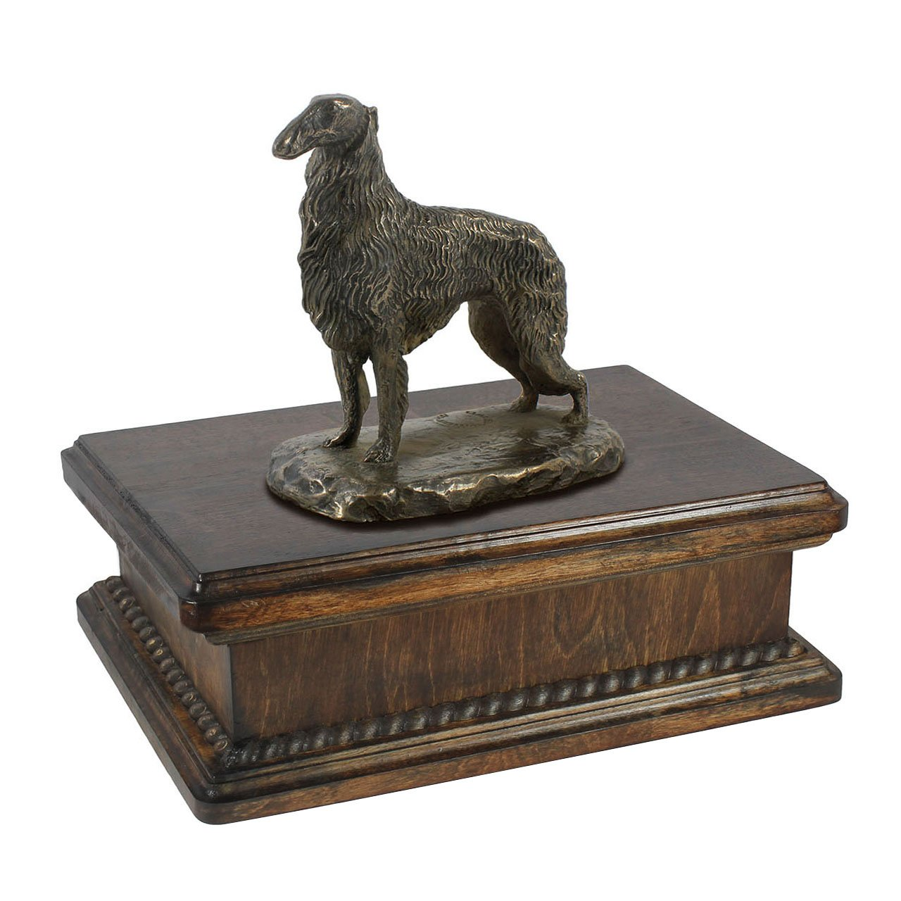 Borzoi standing, memorial, urn for dog's ashes, with dog statue, exclusive, ArtDog