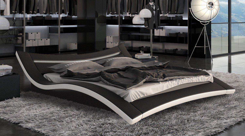 Designer bett 140x200  Designerbett Bett Seducce 140 x 200 cm Schwarz/Weiß modernes ...