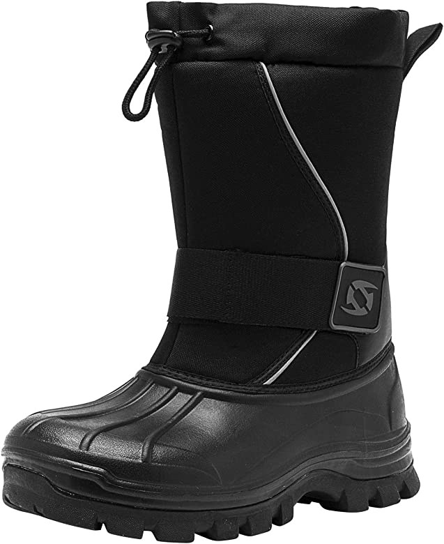 Leisfit Mens Winter Boots Slip