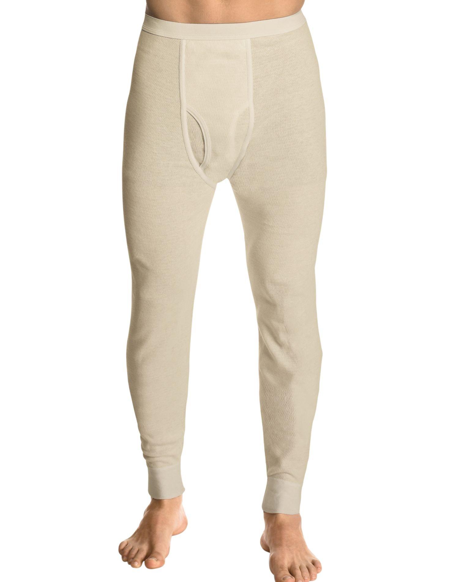 Hanes Men's X-Temp Thermal Pant, Natural, Small