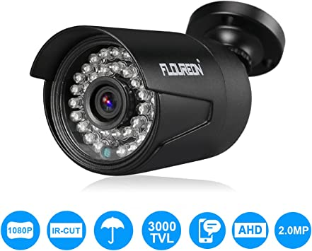 FLOUREON 1080P 3000TVL 4-in-1 TVI//AHD//CVI//Analog CCTV Bullet Überwachungskamera