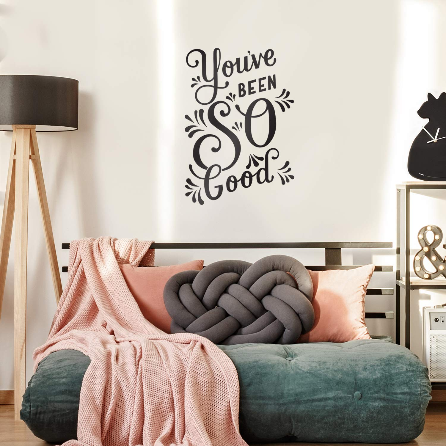 Vinyl Wall Art Decal Inspirational Trendy Cursive Workplace Apartment Living Room Decor 31 x 22, White Motivational Modern Home Office Bedroom Work Quote Youve Been So Good 31 x 22
