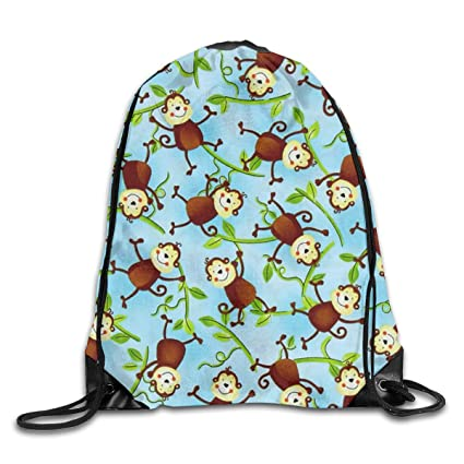 Amazon.com: PJHDCK Jungle Camp Monkeys Bolsa de deporte con ...