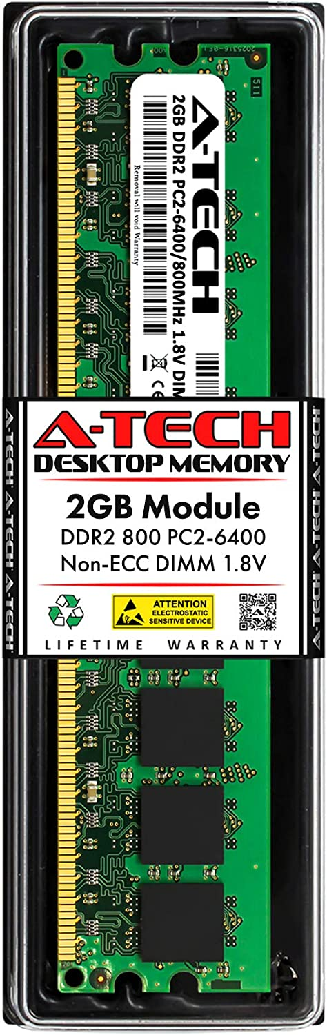 PARTS-QUICK Brand 2GB Memory for MSI Motherboard P45-8D Memory Lover DDR2 PC2-6400 800MHz DIMM Non-ECC RAM Upgrade