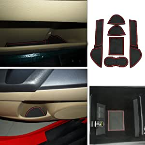 6pcs . Custom Fit Cup Holder and Door Liner Accessories Fits For 2011-2013 MAZDA 3