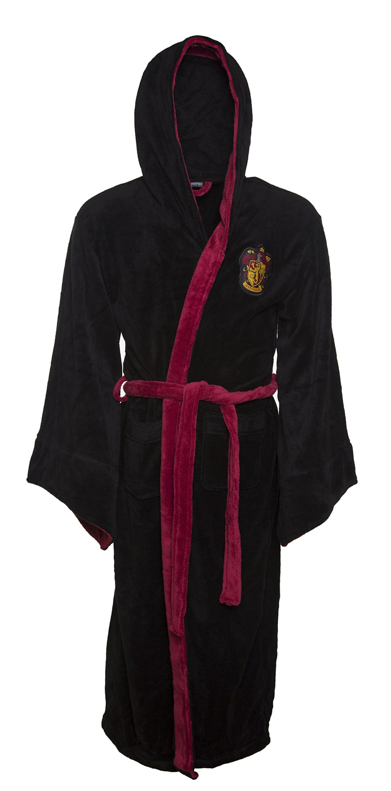 Negro Harry Potter Gryffindor cresta de los hombres con capucha bata product image