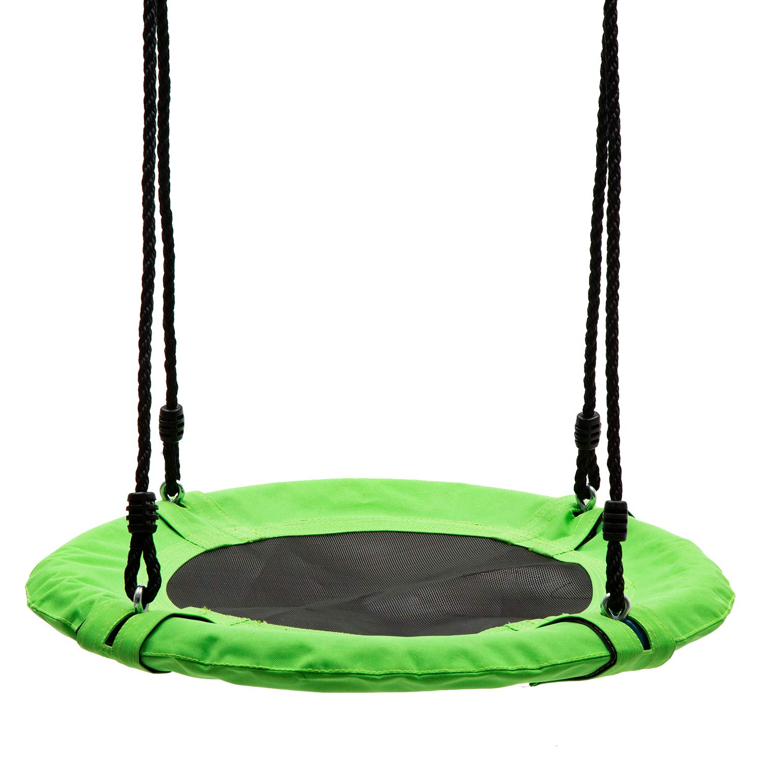 walsport 24'' Flying Saucer Tree Swing Green 330 Pound Capacity Safe and Durable Swing Seat Hanging Tree for Kids Adults Outdoor Garden Backyard by walsport