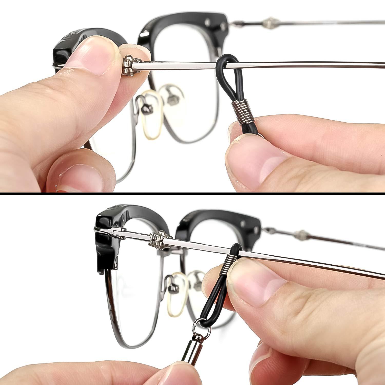 Crazy-M 8St/ück Brillenkette PU Leder Brille Seil Brille Kordel Halte Multicolor geflochtenes Seil Brillen Halter Kette Brillenband//Brillenkette//Brillen Cord//Sonnenbrille Kette Hals Lanyard