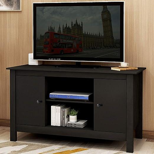 LZ Leisure Zone Mueble de TV de 25 a 60 Pulgadas, Color Blanco ...