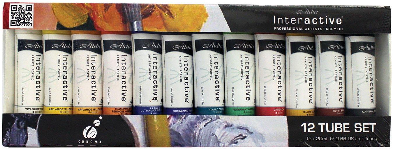 Chroma Atelier Interactive Acryl 20ml 12-Tube