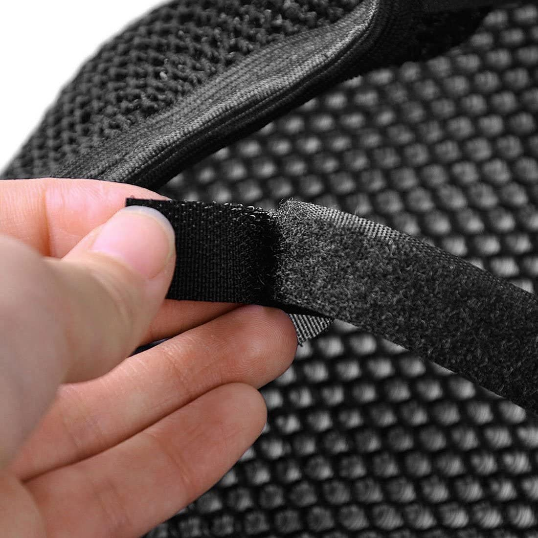 sourcingmap M Black Motorcycle Net Cover Breathable Protector Cushion