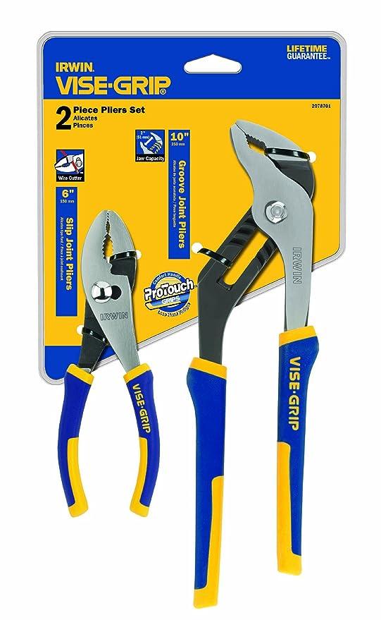 IRWIN Tools VISE-GRIP Pliers Set, 6-Inch Slip Joint and 10-Inch Groove Joint (2078701) - Slip Joint Pliers - Amazon.com