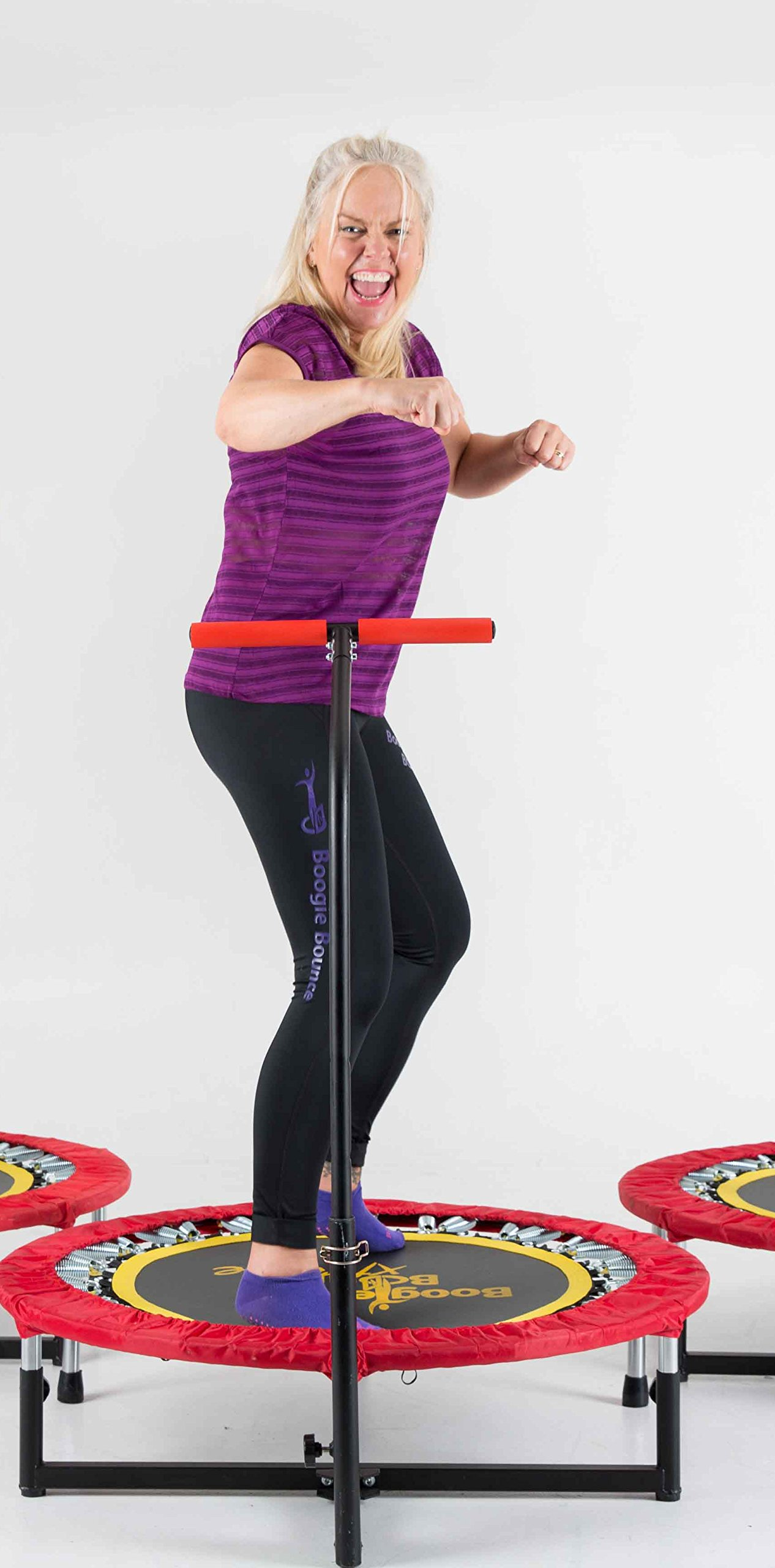 Fitness Trampoline with T-bar Handle by Boogie Bounce (Image #2)