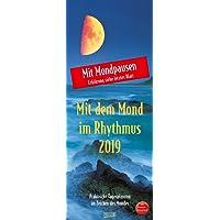 Mond-Planer 2019: Praktische Tagesplanung mit der Kraft des Mondes. Astrologischer Wandkalender mit Ferienterminen und Mondpausen. 19 x 48 cm